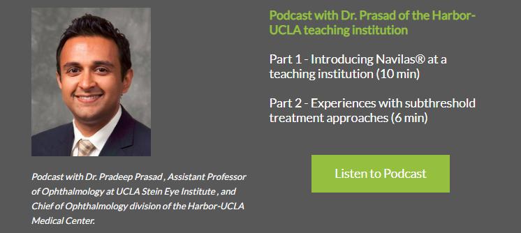 Podcast Navilas Retina Laser at Harbor-UCLA Teaching Institution